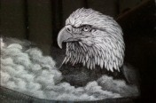 Hand Etching – Eagle Spot