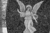 Hand Etchings – Angel on Gray
