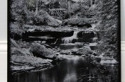 Laser Etchings – Creek Scene Black and White